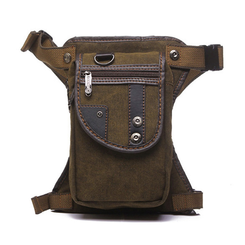 Men's Canvas Drop Leg Bag Thigh Hip Belt Bum Fanny Pack Waist Military Riding Motorcycle Cross Body Messenger Shoulder Bag New