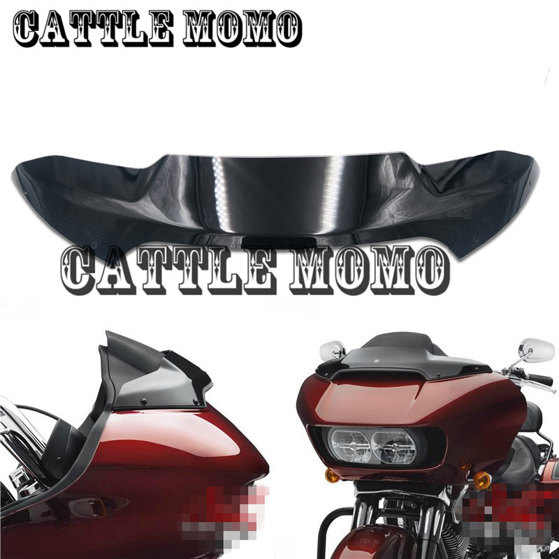 Airflow Windshield Motorcycle Windshield For Double light shark heads Front windshield 4 For Harley Rode Glide Models 2015-2017 накидка easywalker windshield