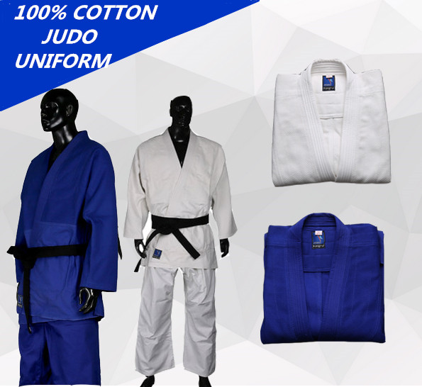 High Quality Blue and White ki mono Jiu Jitsu gi Judo uniform Standard jiu jitsu judo suit training suit