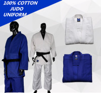 High Quality Blue And White Kimono Jiu Jitsu Gi Judo Uniform Standard Jiu Jitsu Judo Suit