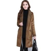 Winter Jacket Women Warm Thick Suede Winter Coat Women Long Jacket Coats Plus Size Manteau Femme