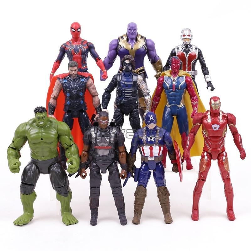 Avengers Infinity War PVC Figures Toys Iron Man Captain America Hulk Thanos Spiderman Thor Vision Bucky Ant Man Loki game of thrones house sigils