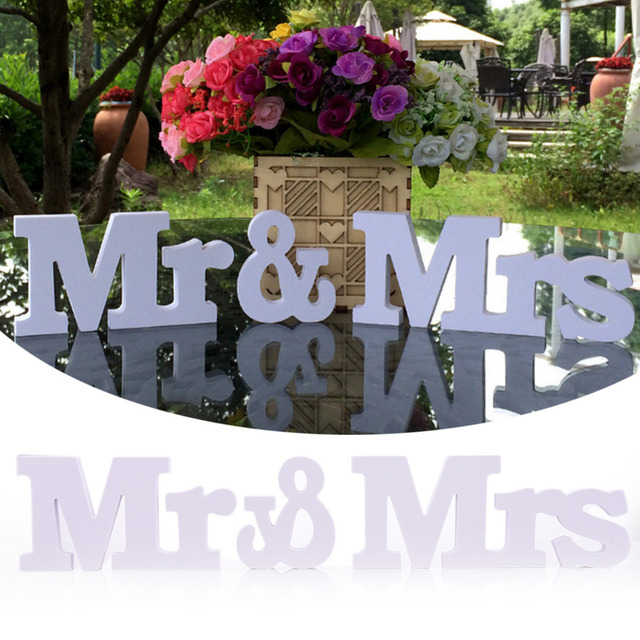 Mr & Mrs Signs Letters For Sweetheart Table Decor Wedding Sign ...