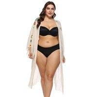 summer sexy women's shirt loose cardigan large size transparent stitching thin section sleeves kimono beach bikini set 2018 new