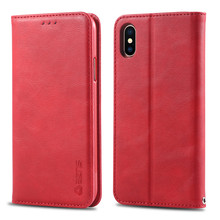 Coque X XS MAX XR 7plus Carcasa Couples Simple Fashion Flip Wallet Leather Case For Apple iPhone 6 7 8 Plus Casing Card Cover