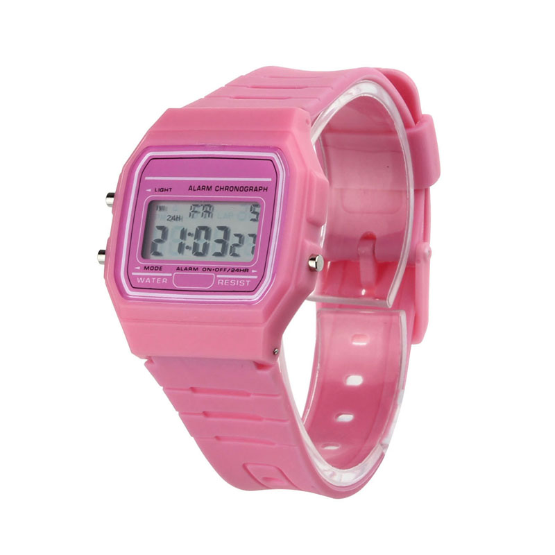 2018 New Silicone Rubber Strap Retro Vintage Digital Watch Boys Girls Mens Relogio Feminino Relogio Masculino Clock relogio mas relogio pmw211
