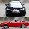 1:32 Escala Diecast Metal de la Aleación de Lujo Modelo de Coche Para Audi A7 Sportback de Colección Modelo Juguetes de Colección de Coches Con Sonido y luz