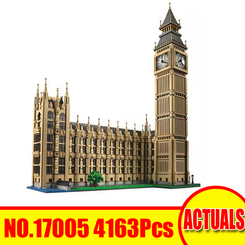 Lepin 17005 4163Pcs City Street Figures Big Ben Compatible With 10253 Building Kit Blocks Bricks Set Toy For Children Model Gift led light up kit gor city model building block figures accessories kit toys for children compatible with lepin