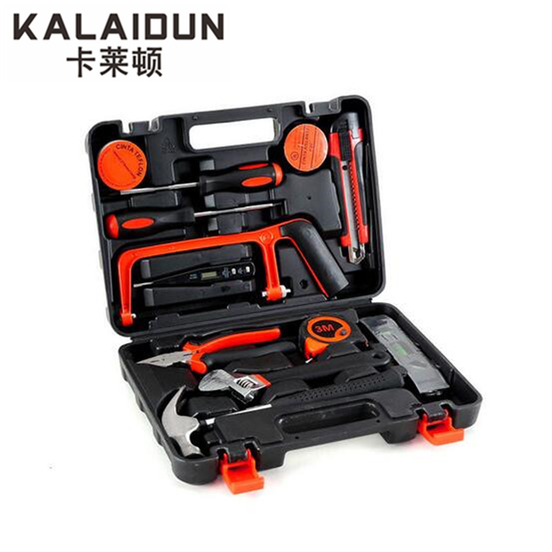 KALAIDUN 12pcs tool combination Multi - functional maintenance tools wrench home hardware hand tools set box suite xkai 14pcs 6 19mm ratchet spanner combination wrench a set of keys ratchet skate tool ratchet handle chrome vanadium