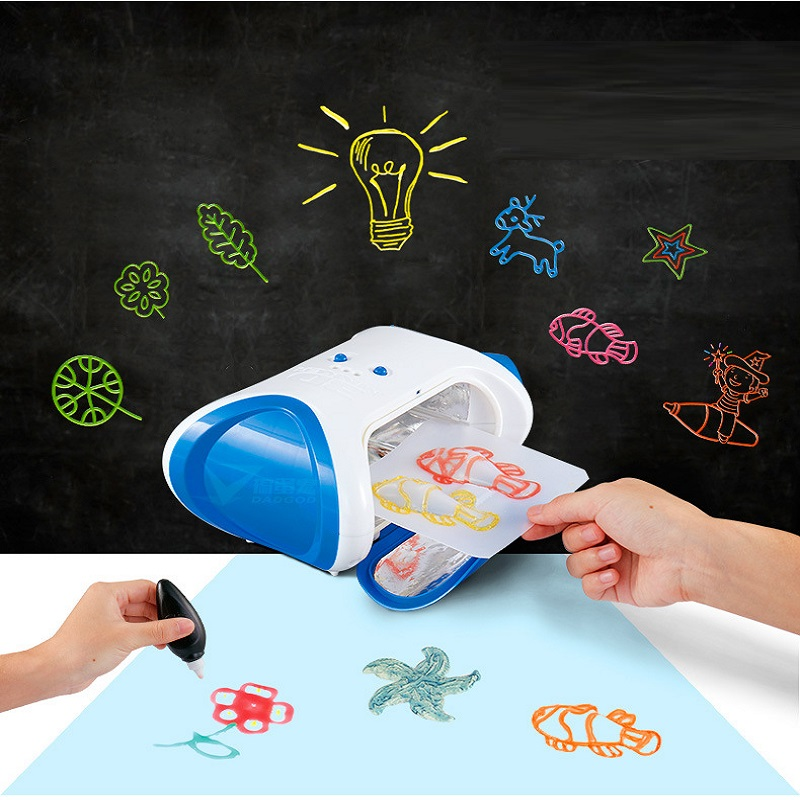 DIY 3D Magic Machine Printer Enlighten Painting Draw Kids Developmental Painting Machine Graffiti Printed Machine Toy Gifts New