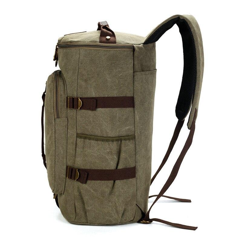 MCO Large Capacity Travel Backpack For Men Retro Waterproof Canvas Laptop Bagpack Men's Weekend Duffle Bags Big Male Rucksack-in Backpacks from Luggage & Bags    2
