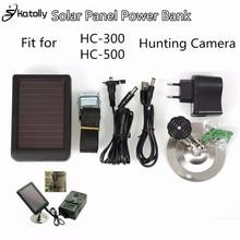 Skatolly 1500 mAh Panneau Solaire Chargeur UE/US Plug Batterie Puissance Banque pour SUNTEK Caméras de Chasse HC300M HC500M Scoutisme caméra