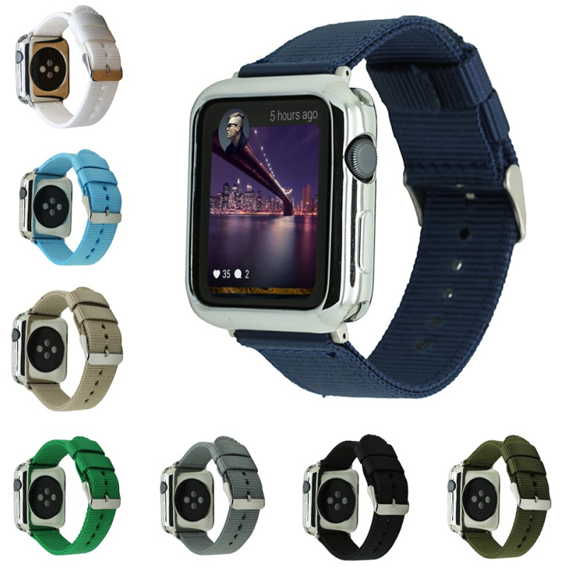 NEW Woven Nylon band wrist strap for apple watch band 42mm 38mm sport fabric nylon bracelet watchbands for iwatch Series 3/2/1 woven nylon bands for apple watch band strap 42mm 38mm iwatch serise 3 2 1 nylon wrist band bracelet