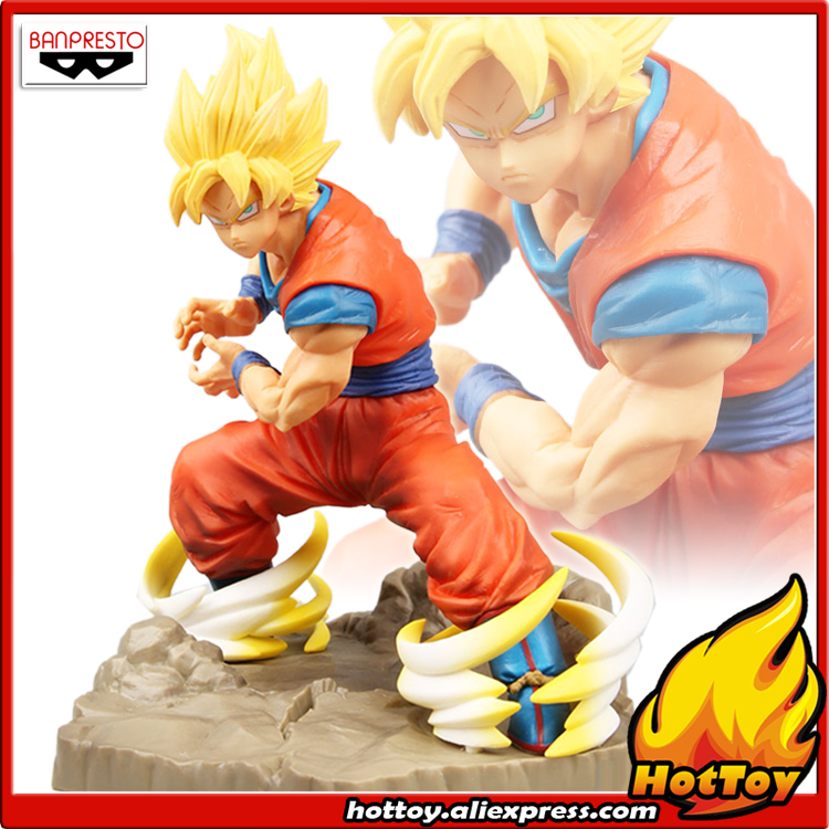 100% Original Banpresto Absolute Perfection Figure Collection Figure - Super Saiyan Son Goku from Dragon Ball Z 100% original banpresto resolution of soldiers collection figure vol 1 super saiyan son gokou from dragon ball z