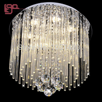 Free Shipping New Beautiful Modern Ceiling Lamp K9 Crystal Light Bedroom Lamp Dia400 H300mm