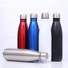 Bright Color Thermos Portable Sport Water Bottle Outdoors Double Wall Stainless Steel Travel Beer Coffee Cup