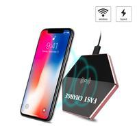 Haissky Fsat Qi Carregador Sem Fio Para o iphone X 8 plus Pad Carregador Sem Fio Para Samsung Nota Galáxia 8 Para SAMS S4 S5 S6 S7 S8 S6 S7