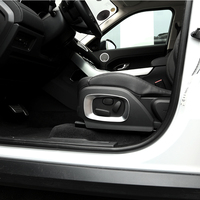 2012 2015 For Land Rover Range Rover Evoque Car Styling ABS matt Chrome Car Seat Side Frame Cover Trim Accessories set of 2pcs