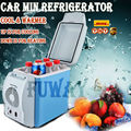 DHL Free Shipping!!6L Portable Mini Car Fridge Vehicle Multi-Function Home Cooler Freezer Warmer Refrigerator Fridge Auto Supply