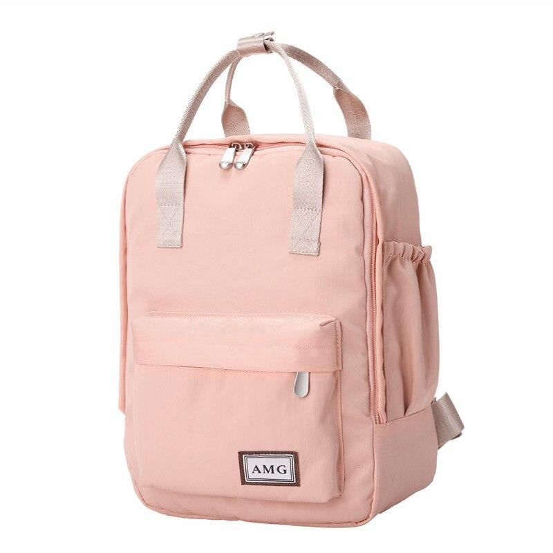 Harajuku minimalist Waterproof Canvas Backpack small fresh female on Korean College Student Travel Backpack Bag tide wind