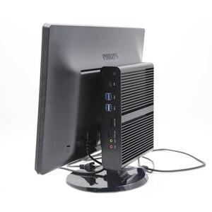 Image 5 - EGLOBAL Fanless Mini PC i7 8565U 8550U 4 Core 8 Threads 2*DDR4 M.2+Msata+2.5 SATA Desktop Computer Windows 10 DP HDMI HTPC