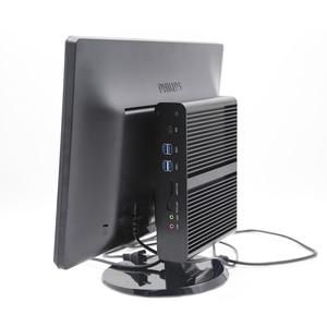 Image 5 - EGLOBAL Fanless מיני מחשב i7 8565U 8550U 4 Core 8 אשכולות 2 * DDR4 M.2 + Msata + 2.5 SATA שולחן העבודה מחשב Windows 10 DP HDMI HTPC