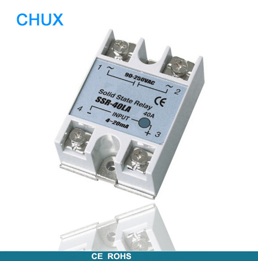 white shell 220v 3-32v  Single phase  Solid State Relay  SSR DC control AC fotek 80A (SSR-80DA) mgr 1 d4825 single phase solid state relay ssr 25a dc 3 32v ac 24 480v