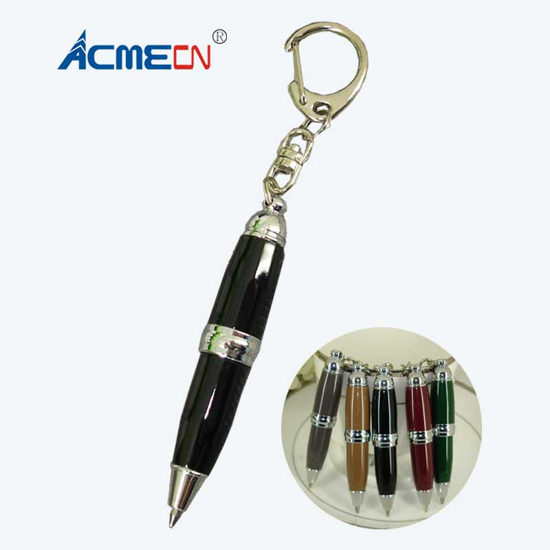 Portable Beverage Bottle Retractable Ballpoint Pen Office School With Key Ring