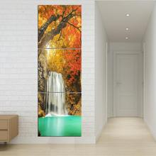 3 Pieces/set Wall Post Modern Waterfall Tree Drawing Pictures Corridor Landscape Art Printed Canvas Sitting Room No Framework