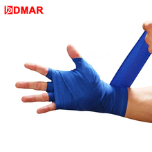 DMAR 2pcs/roll 3M Cotton Boxing Sports Strap Kick Boxing Bandage Sanda Thai MMA Taekwondo Hand Gloves Wraps Gym Home Fitness 2017 new quality mma kick boxing protectors suit blue color men women taekwondo fighting chest shin groin protectors helmet 5pcs