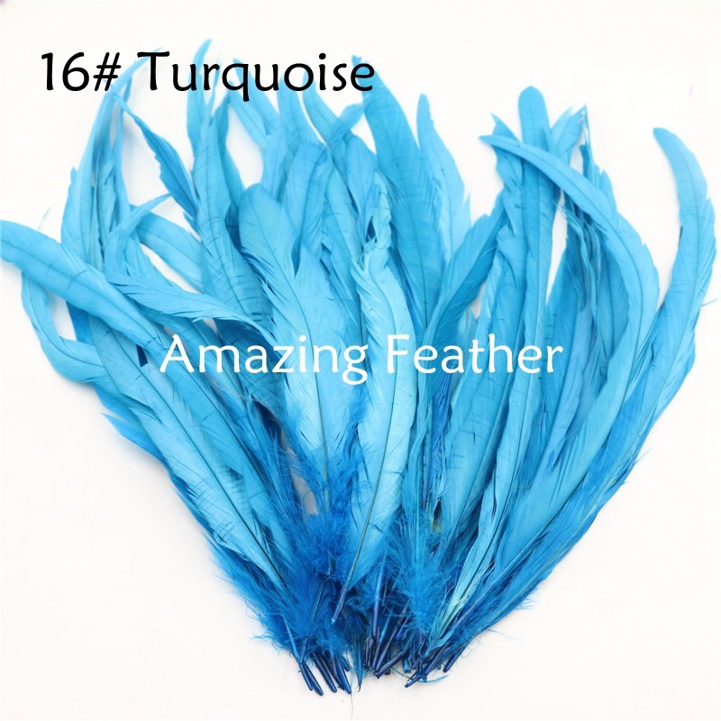 200pcs/lot 12-14inch Rooster Feathers Turquoise Feathers For Crafts Decoration Christmas Home Sale New Year Wedding Cosplay
