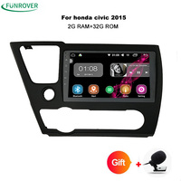 Funrover 2Din Head Unit 9inch Android 8 0 Car Radio DVD GPS Navi For Honda Civic