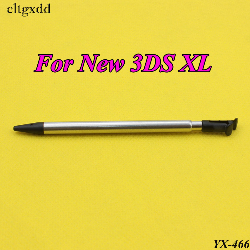 cltgxdd 1PC Portable Game Touch Pen Retractable 2 in 1 Mini Metal Stylus Touch Screen Pen For Nintendo For New 3DS LL/XL Console