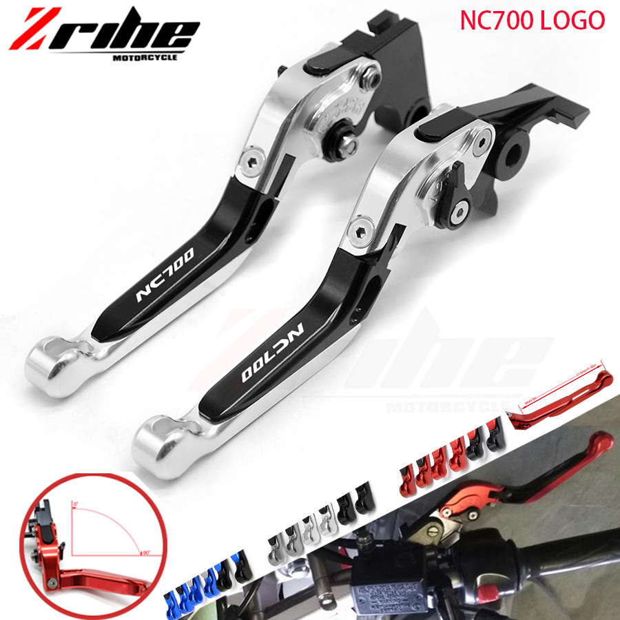 For Red&Titanium CNC Folding Extendable Motorcycle Brake Clutch Levers For Honda NC700 X NC700X 2012-2013 motorcycle cnc folding brake clutch levers