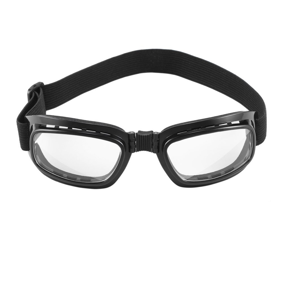 Foldable Vintage Motorcycle Glasses Windproof Goggles Ski Snowboard Glasses Off Road Racing Eyewear Dustproof Goggles