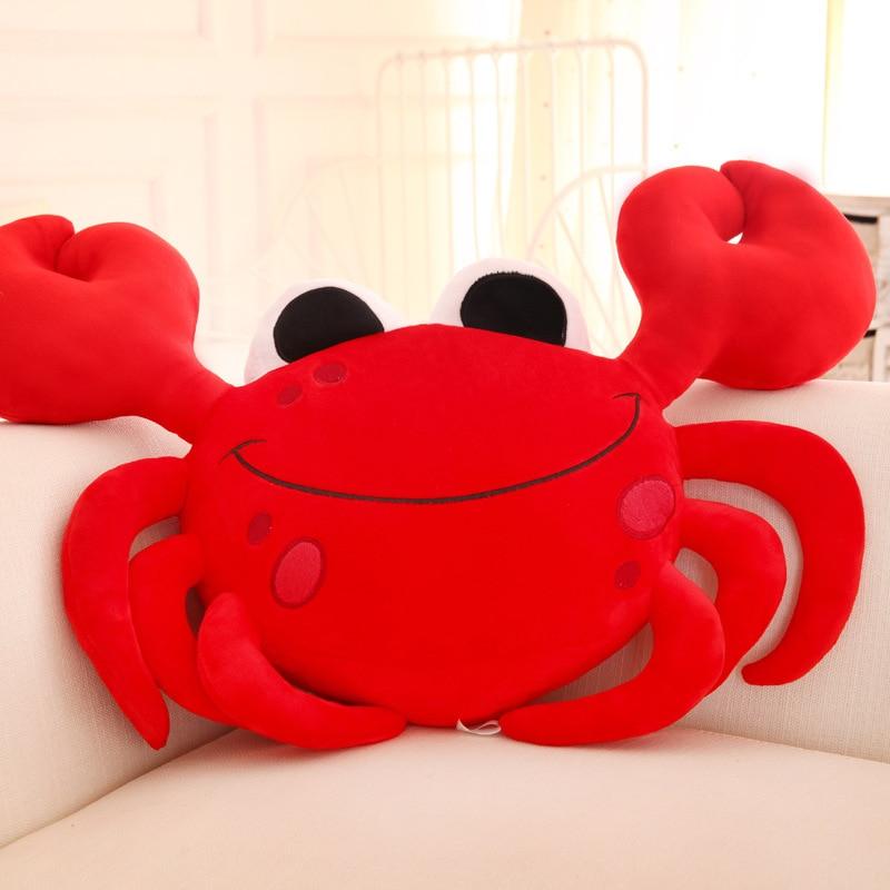 55 CM Soft Crabs Pillow Plush Toys Cancer Girl Boy Creative Stuffed Animal Steamed Cushion Sleeping Dolls Valentine's Day Gift