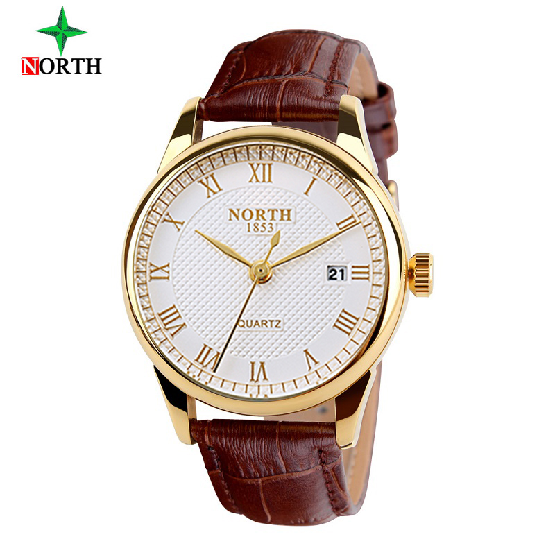 NORTH Mens Watches Top Brand Luxury Quartz Watch Fashion Casual Watch Male Wristwatches Quartz-Watch Clock Relogio Masculino mens watches top brand luxury quartz oukeshi fashion casual business watch male wristwatches quartz watch relogio masculino