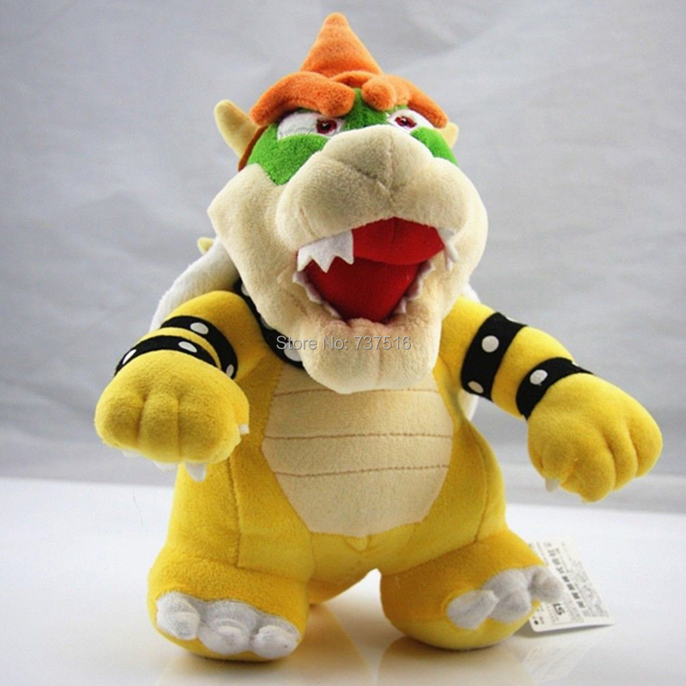 Super Mario 10 Standing King Bowser Koopa Plush Toy Stuffed Animal Great Gift