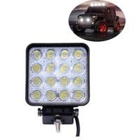 1PC Unviersal Car Boat Truck 12V 24V 48W 16 LED Work Lamp Light Bar Spot Offroad