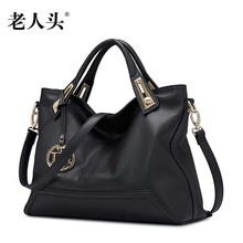 LAORENTOU new genuine leather bag famous brand luxury fashion Superior cowhide leather Casual women handbags shoulder bag