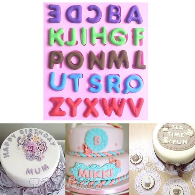 3d English Letter Alphabet Fondant Cake Decoration Mold Sugar Craft