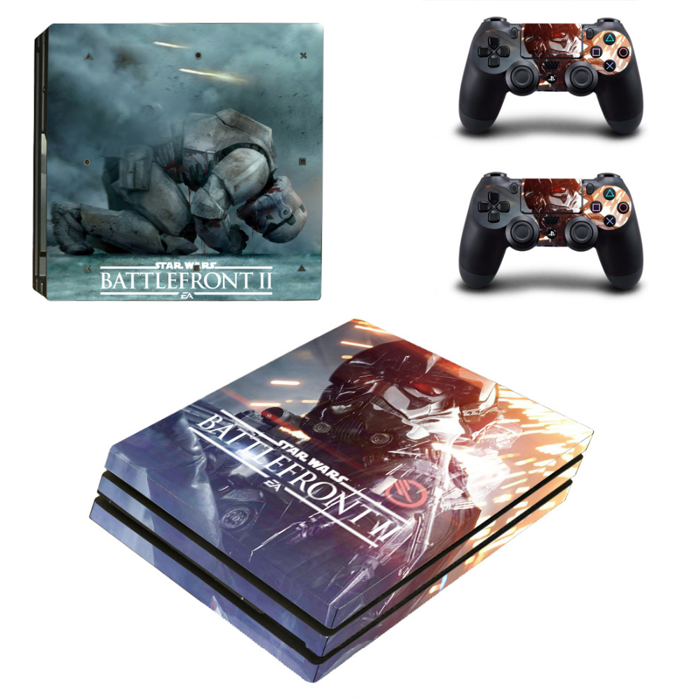 Star Wars Battlefront 2 PS4 Pro Skin Sticker For Sony PlayStation 4 Console and Controll ...