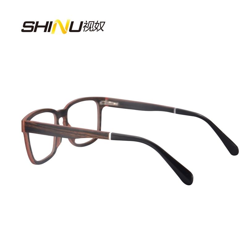 priroda drvo optički okvir naočale s receptom naočale - Pribor za odjeću - Foto 5