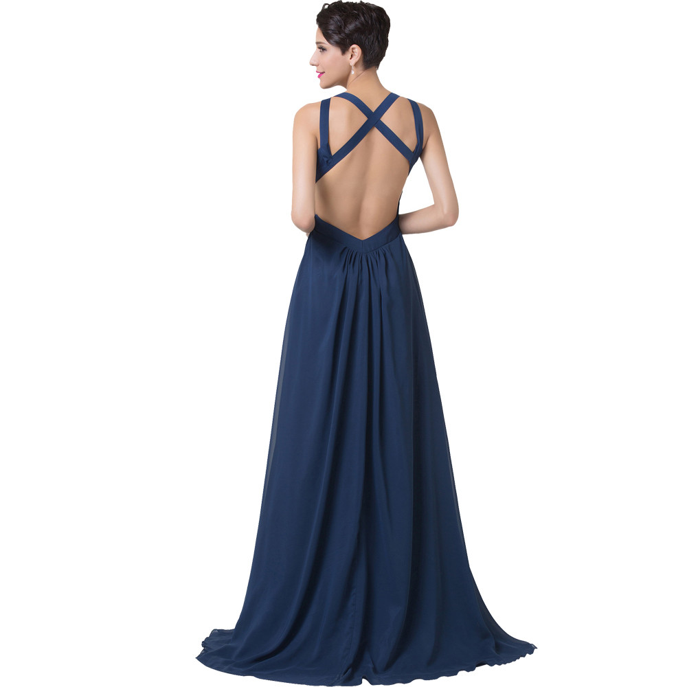 Grace Karin Navy Blue Evening Dress Women Fashion Backless Split Special Long Evening Gown Elegant Special Occasion Dress 2017 10