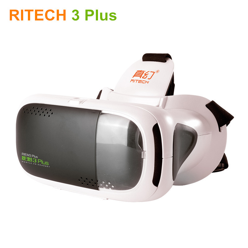 RITECH III Virtual Reality 3D Video Glasses RIEM 3 Plus VR Helmet Box for 3D Movie Games Compatible 4.7/5.0-6 Moblie Phone image