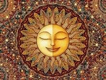 1.3 ft x 2 ft = 2.6 square ft Doormat Waterproof Plush Living Kitchen Inspirational Sun Mandala