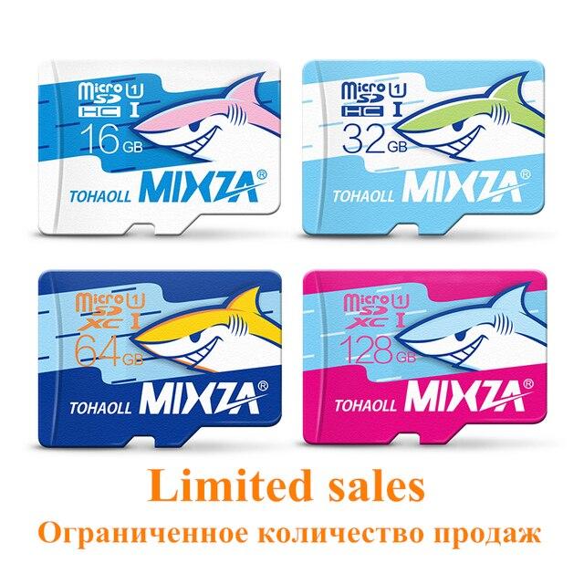 MIXZA Акула edition карты памяти 8 ГБ 16 ГБ 32 ГБ 64 ГБ 128 ГБ карта micro sd class10 флэш-карты Памяти microsd для смартфонов