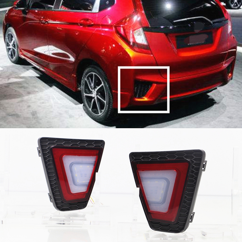 Car Flashing For Honda Jazz 2014 2015 2016 Led Rear Bumper