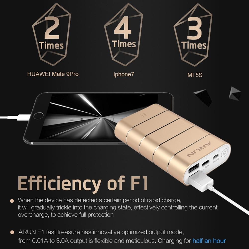 ARUN power bank 7500mah Fast Charger External Battery F1