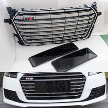 TTS Style chrome frame black Front Bumper Grill Grille For Audi TT MK3 Typ 8S 2015 up